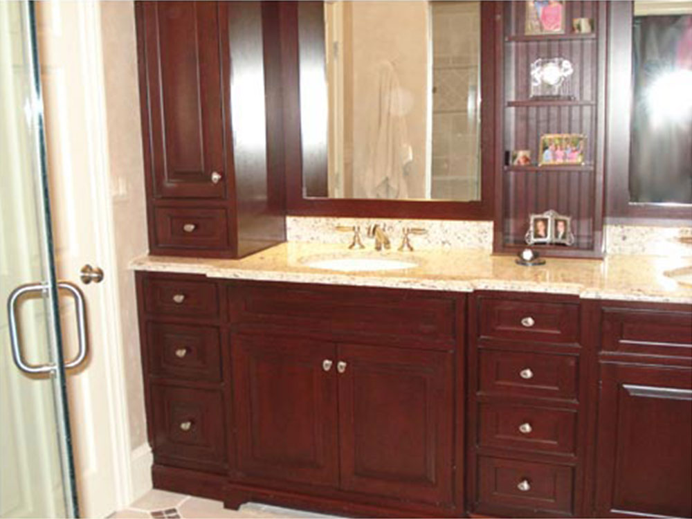 Bathroom Cherry Cabinets